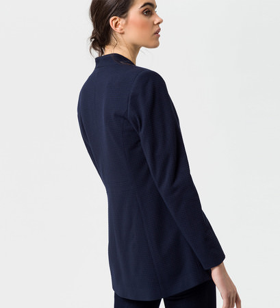 Blazer mit Häkchenverschluss in blue black