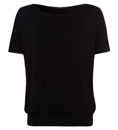 Shirt mit breitem Bund in black