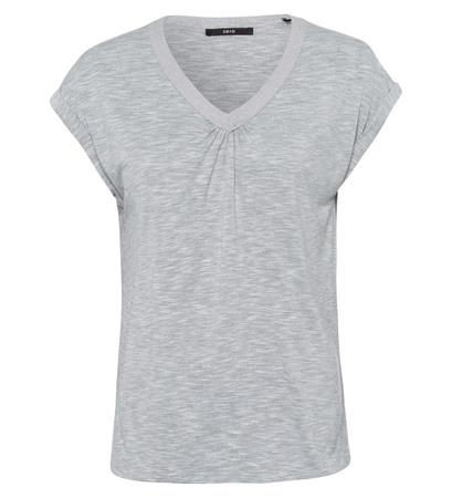 Shirt mit V-Ausschnitt in stone grey