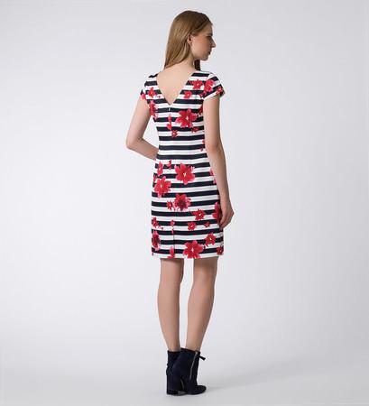 Kleid mit Streifen in blue black