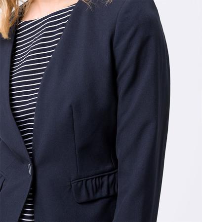 Blazer mit gerafften Details in blue black