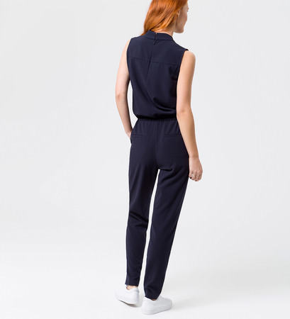 Jumpsuit mit Tunnelzug in blue black