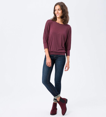 T-Shirt mit grafischem Muster in grape red