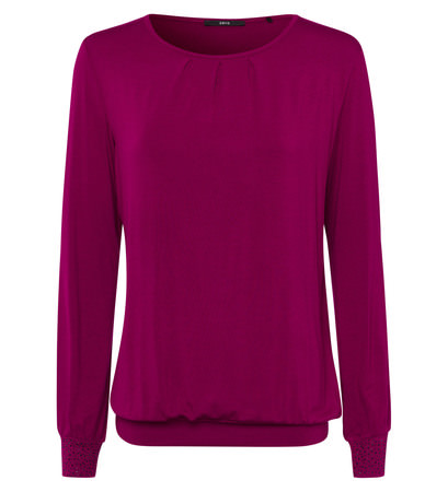 Shirt mit glitzernden Details in dark magenta