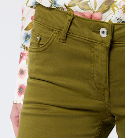 Hose im Five-Pocket-Design in bean green