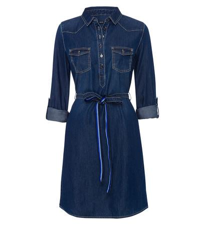Kleid im Denim-Look in dark denim wash