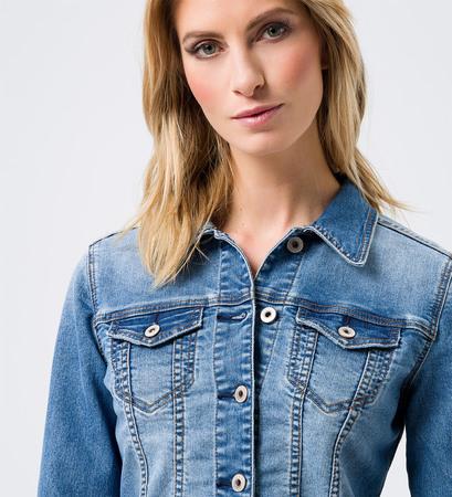 Jacke im Denim-Look in mid blue washed jacket