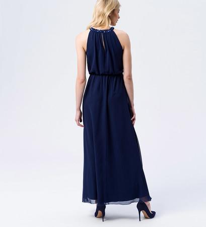 Kleid mit Paillettenkragen in ink blue
