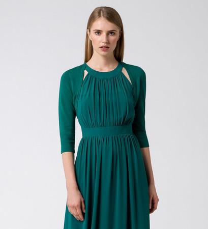 Bolero im unifarbenen Design in ivy green