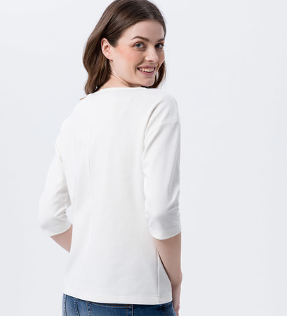 Minimalistisches Shirt in offwhite
