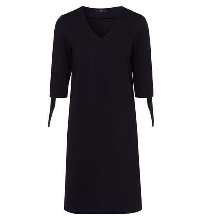 Kleid mit V-Ausschnitt in blue black