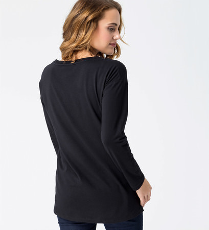 Shirt im unifarbenen Design in black