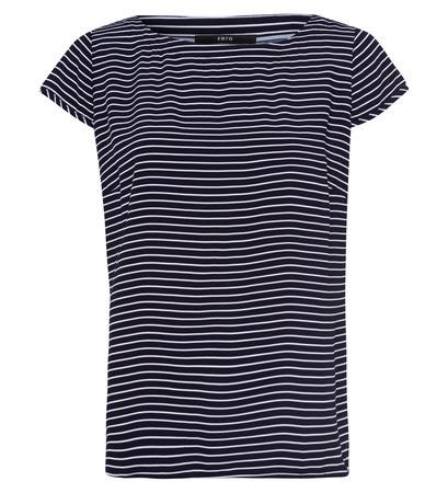 Bluse mit Streifenmuster in blue black
