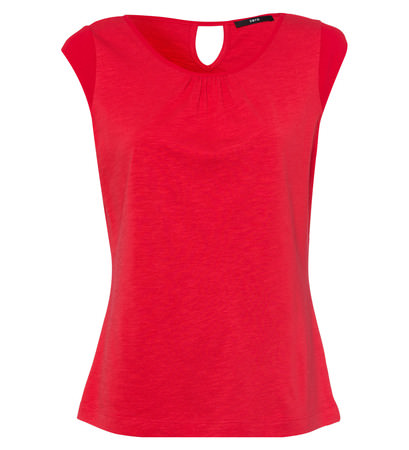 Top mit Keyhole-Design in hot coral