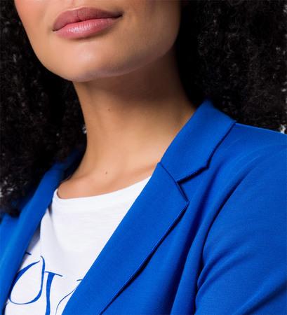 Blazer mit Bindeband in cobalt blue