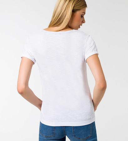 T-Shirt mit Statementprint in black