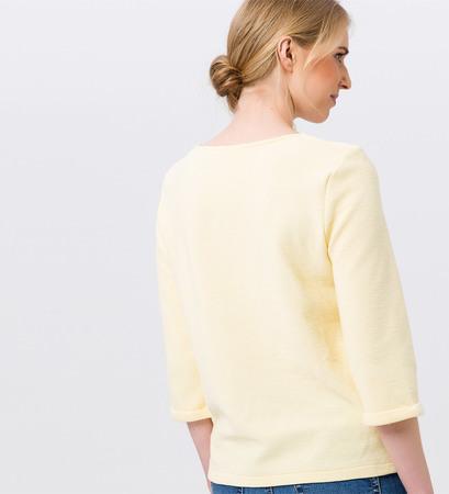 Shirt mit 3/4-Ärmeln in vanilla ice