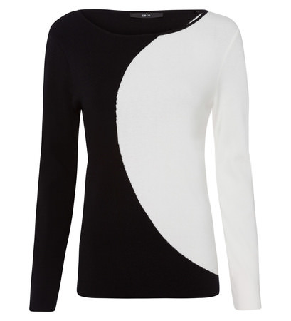 Pullover im Kontrast-Look in black