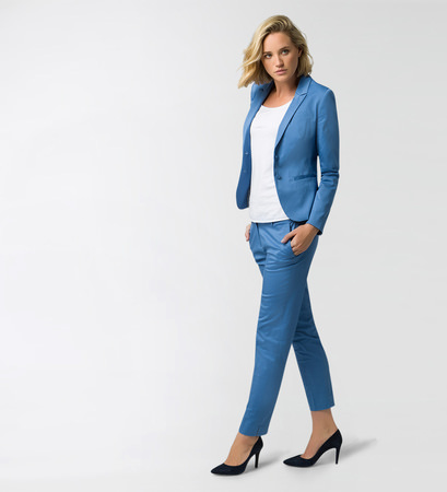 Blazer im Classic-Look in water blue
