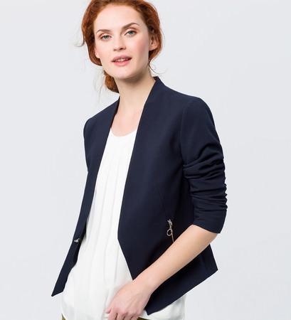 Blazer im eleganten Design in blue black