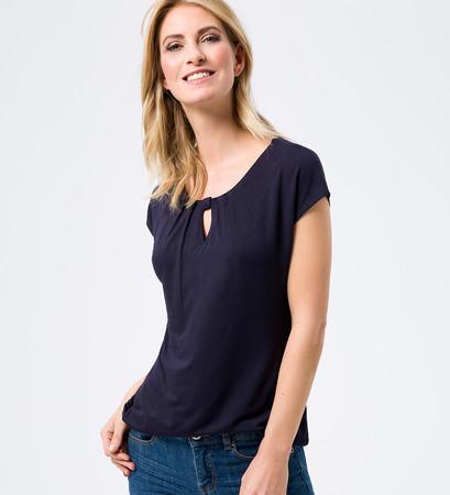 Shirt mit Keyhole-Design in blue