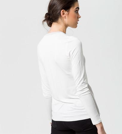 Bluse mit Punkten in offwhite
