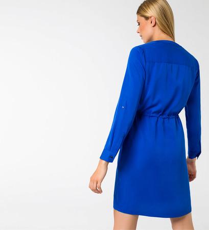 Kleid mit Knopfleiste in cobalt blue