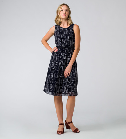 Kleid mit Polka Dots in blue black