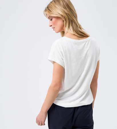 T-Shirt mit Print in offwhite