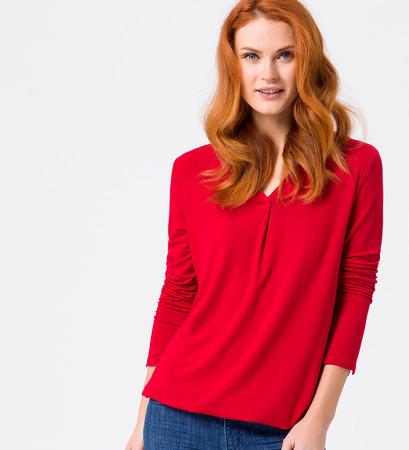 T-Shirt mit langen Ärmeln in tango red