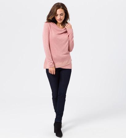 Jersey Sweater im Lagen-Look in dusk rose