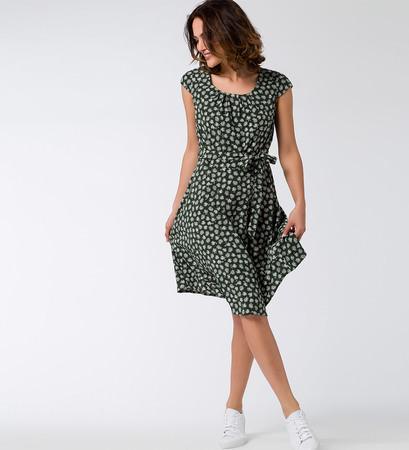 Kleid mit Alloverprint in cypress olive