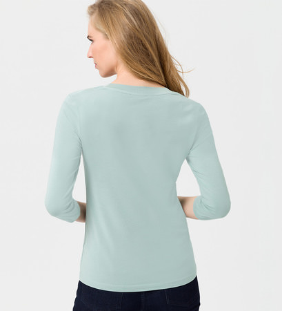 Shirt mit tiefem Ausschnitt in light jade