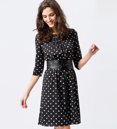 Kleid mit großen Punkten in rose parfait
