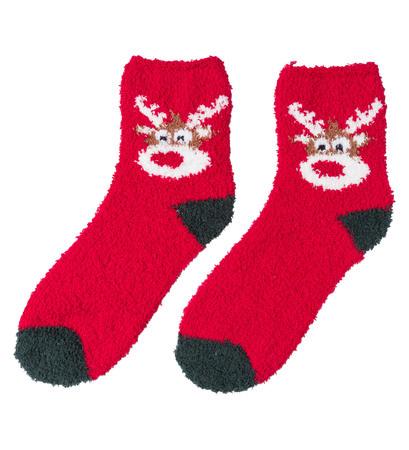 Socken mit weihnachtlichem Motiv in christmas Red