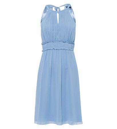 Kleid im Neckholder-Design in powder blue