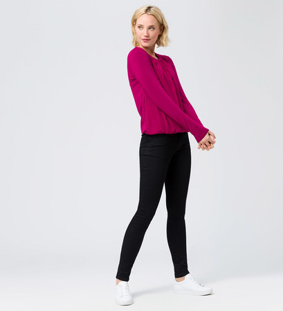 Blusenshirt in dark magenta