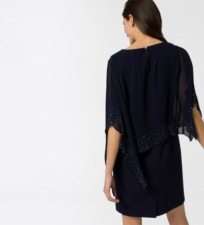 Kleid im Lagen-Look in blue black