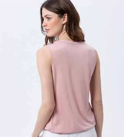 Blusentop mit Alloverprint in dusty pink