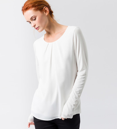 Blusenshirt in offwhite