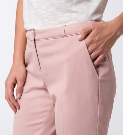 Hose in strukturierter Qualität in rose parfait