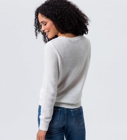 Pullover mit Blumenmuster in offwhite