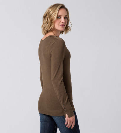 Pullover mit Knopfdetails in winter olive