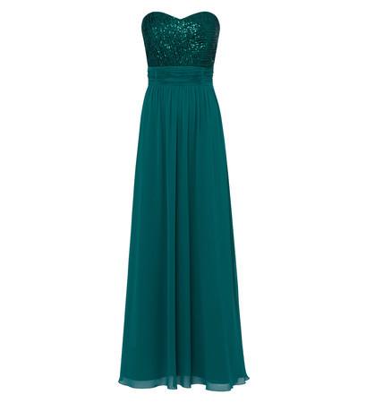 Kleid im eleganten Look in ivy green