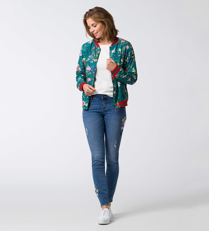 Blouson mit Alloverprint in ivy green