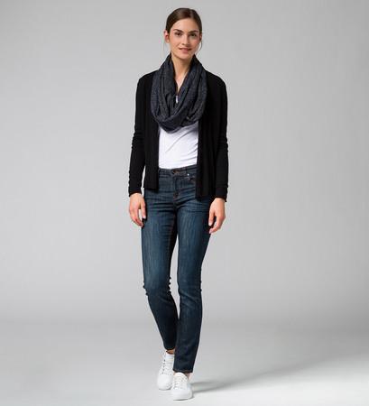 Strickjacke Smilla mit Cashmere in black
