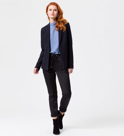 Blazer im unifarbenen Design in blue black