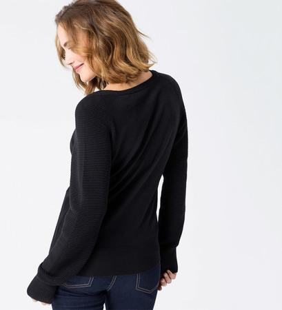 Pullover mit Raglanärmeln in black