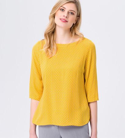 Bluse aus Viskose in safran yellow