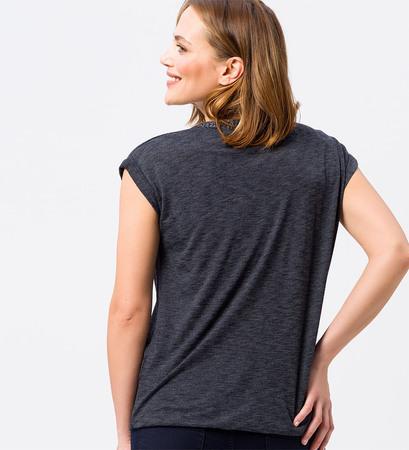 Shirt mit V-Ausschnitt in blue